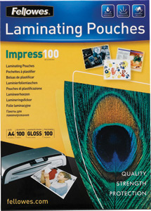Fellowes Laminating Pouch A4, 100 мкм, 100 шт.